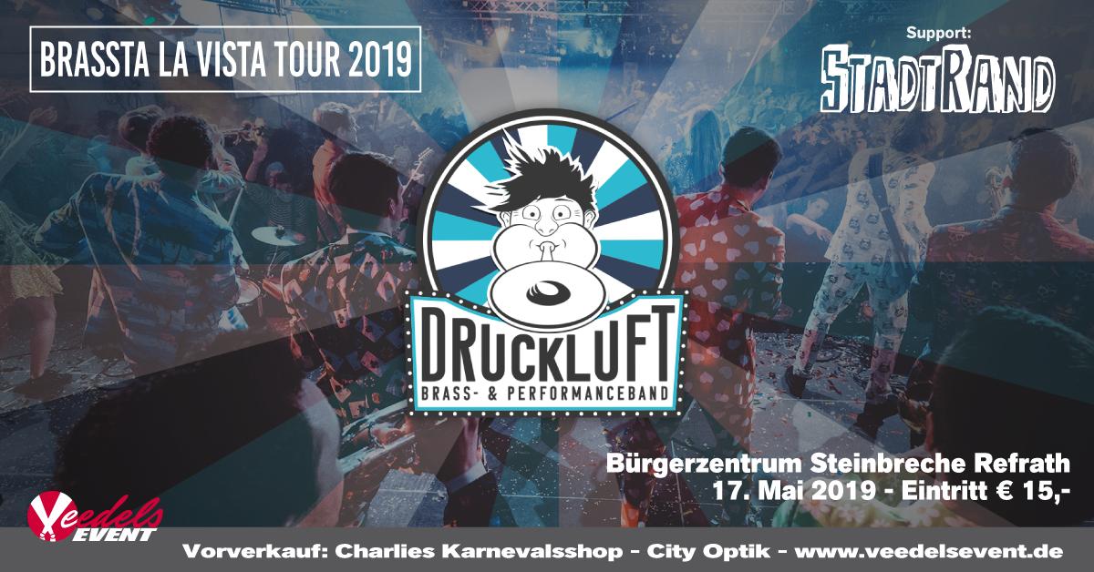 Druckluft – Brassta la vista Tour 2019 – support: Stadtrand