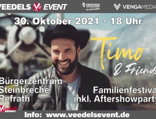 Verlegt in die Refrather Mühle: Timo & Friends – das Familienfestival